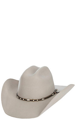 Cavender's Cowboy Collection 3X Silverbelly with Fancy Band Premium Wool Cowboy Hat