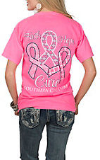 Couture Tee Women's Pink Faith, Hope & Cure T-Shirt