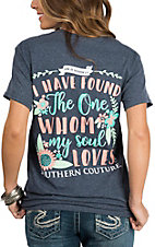 Couture Tee Women's Grey The One My Soul Loves T-Shirt