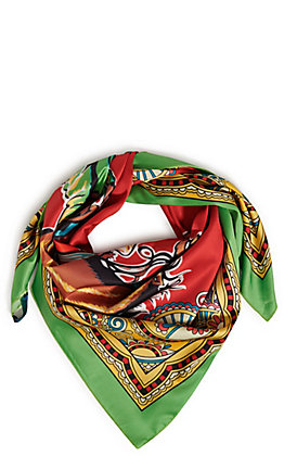 Fashion Express Women's Red Bronco Scarf