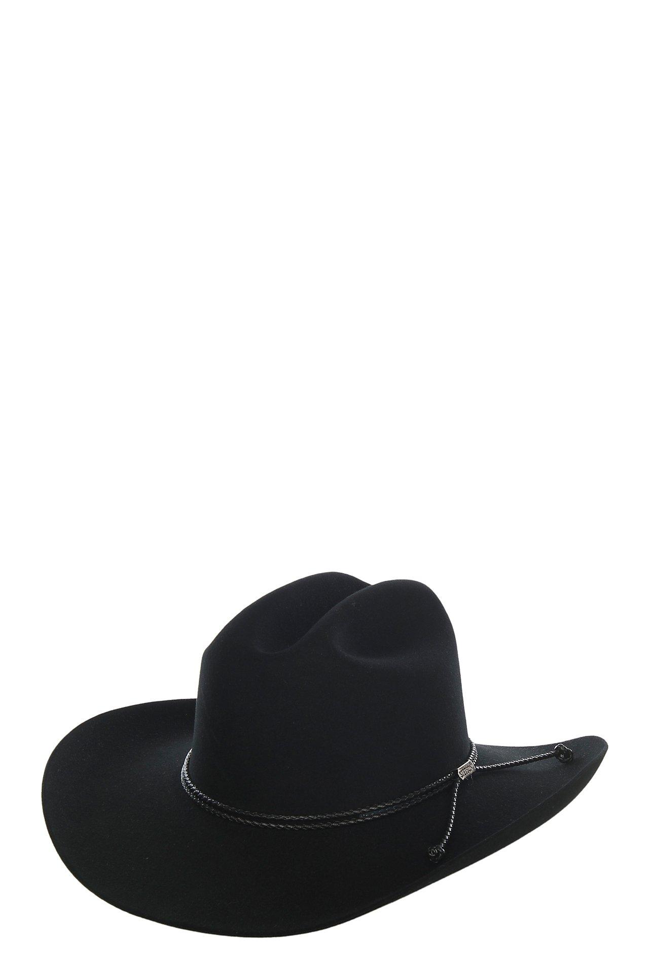 Stetson 6X Carson Black Felt Cowboy Hat  f454ebdef26