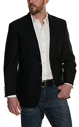 Red Sky Men's Black Athletic Fit Two Button Sport Coat