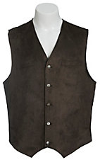 Red Sky Men's Dark Brown Microsuede Vest