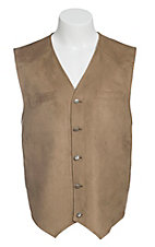 Red Sky Men's Tan Microsuede Vest