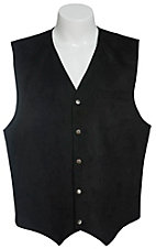 Red Sky Men's Black Microsuede Vest