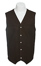Red Sky Men's Brown Wool Vest