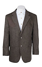 Red Sky Men's Dark Brown Donegal Tweed w/ Chocolate Suede Patch Sport Coat