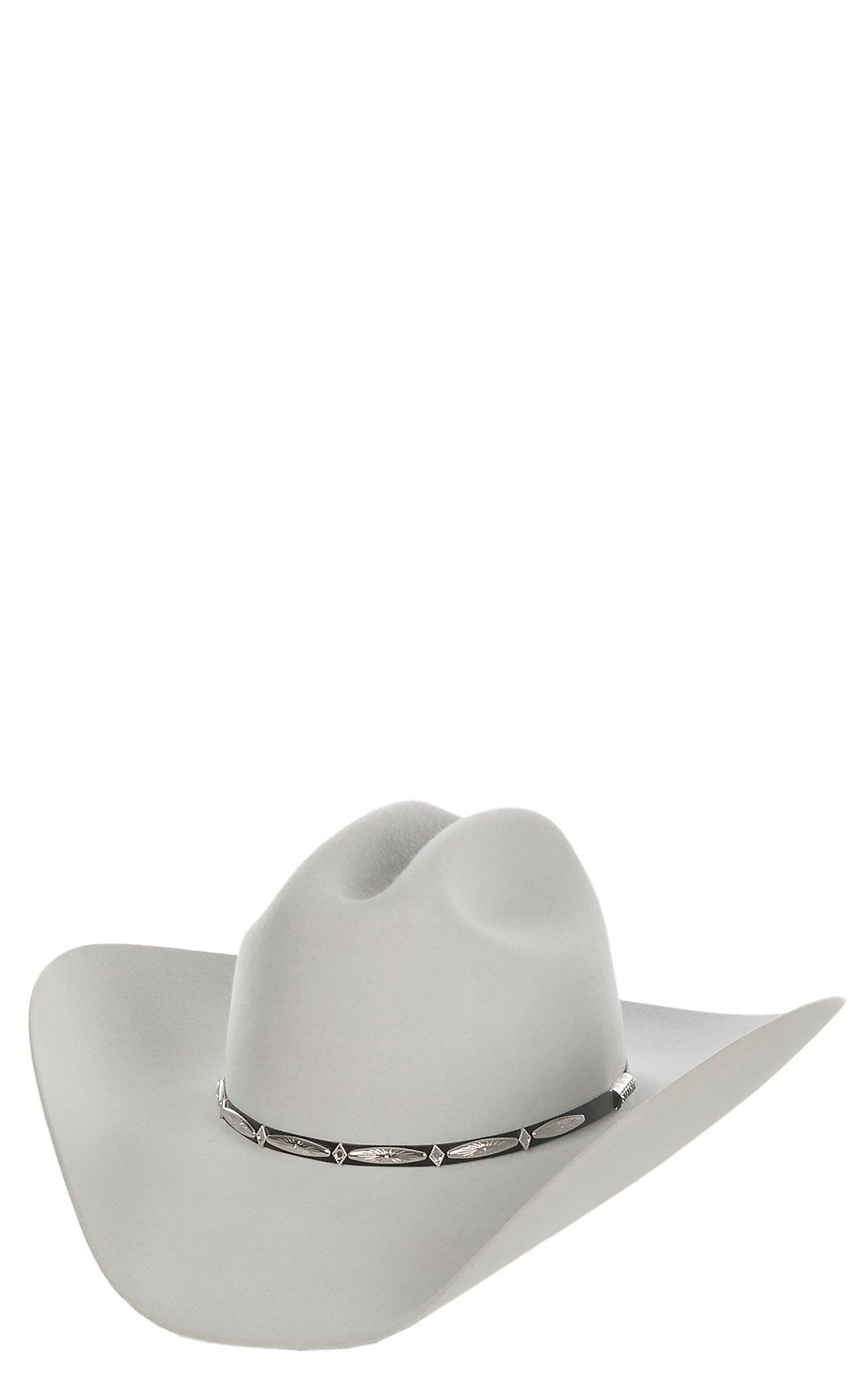 Stetson 6X Del Norte Silver Grey Felt Cowboy Hat  693a3ed2e90