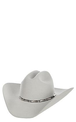 Stetson Del Norte Silver Grey 6X Cattleman Felt Hat