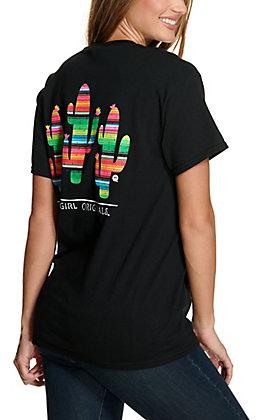 Girlie Girl Originals Women's Black Serape Cactus S/S T-Shirt