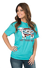 Lazy J Ranch Serape Hereford Turquoise T-Shirt