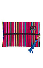Makeup Junkie Pink Serape Medium Makeup Bag