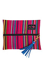 Makeup Junkie Pink Serape Small Makeup Bag