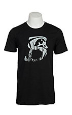 Stackin Bills Men's Black and Grey Shadow Grass Logo S/S T-Shirt