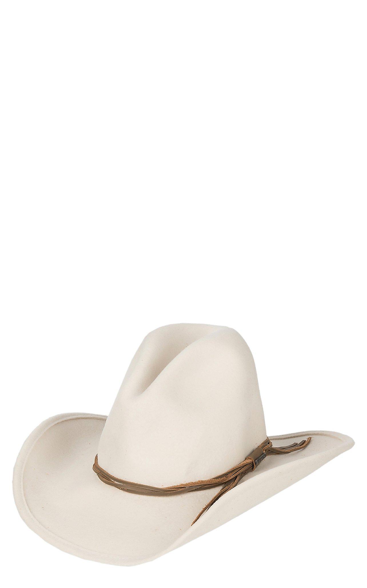 Stetson  Stetson Gus Crush Silverbelly Woven w  Leather Band Wool Cowboy Hat dc15f094da0