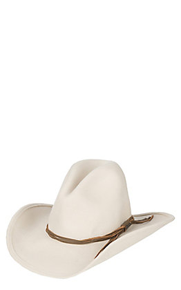 Stetson Gus Crush Silverbelly Woven with Leather Band Wool Cowboy Hat