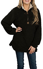 Girlie Girl Originals Women's Black Sherpa Pullover Jacket