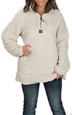 Girlie Girl Originals Women's Cream Sherpa Pullover Jacket