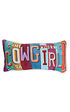 Manual Woodworkers & Weave Cowgirl License Plate Rectangle Pillow