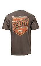 Back Down South Chocolate with Shield Logo Short Sleeve Pocket Tee SHIELDCH