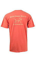 Back Down South Bright Salmon with Signature Logo Short Sleeve Pocket Tee SIGNATUREBS