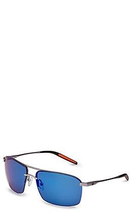 Costa Skimmer Matte Silver Blue Mirror Sunglasses