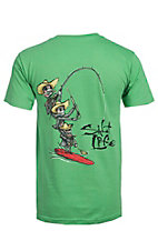 Salt Life Men's Grass Green Till Death Short Sleeve Tee