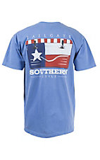 Live Oak Brand Flag Cooler Series Flo Blue Texas Short Sleeve Tee