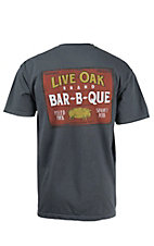 Live Oak Brand Graphite BBQ Sign Short Sleeve Tee