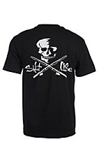 Salt Life Men's Black Skull & Poles Short Sleeve Pocket Tee