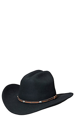 Rodeo King Silverado Black Crush Felt Cowboy Hat