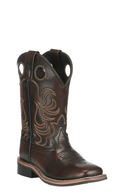 6c28a9e391d Smoky Mountain Kids Black Cherry Wide Square Toe Western Boots