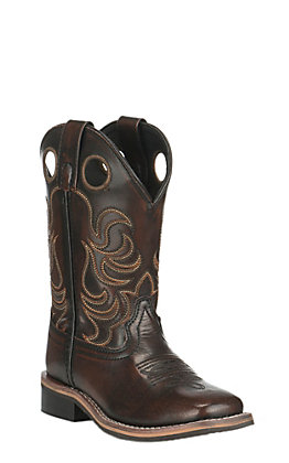 Smoky Mountain Kids Black Cherry Wide Square Toe Western Boots