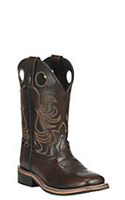 Smoky Mountain Youth Black Cherry Wide Square Toe Western Boots