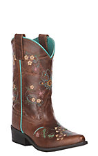 Smoky Mountain Youth Floralie Leather Snip Toe Boot