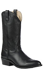 Smoky Mountain Men's Classic Black Western RToe Boots