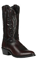 Smoky Mountain Men's Classic Black Cherry Leather with Western R Toe Boots