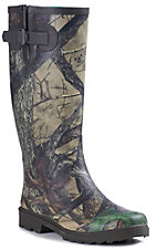 Smoky Mountain Women's Camo Slip Resistant Round Toe Rain Boot