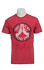 Southern Moonshine Men' Red World Peace T-Shirt
