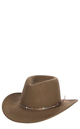 Stetson Mountain Sky Acorn Crushable Tycoon Wool Cowboy Hat