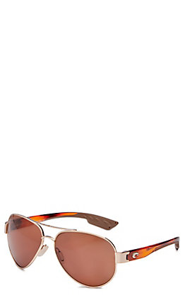 Costa South Point Copper Rose Gold Tortoise Sunglasses