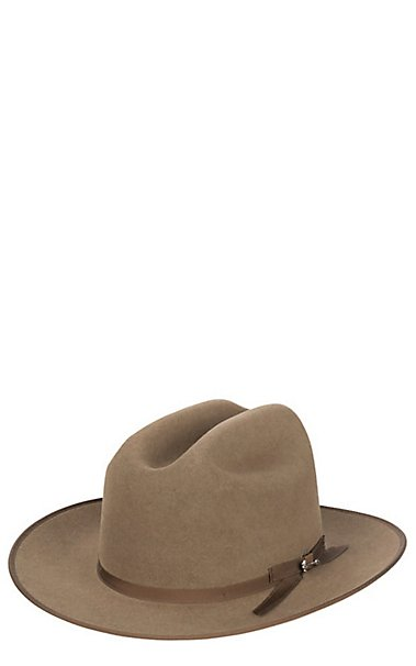Stetson 6X Open Road Brown Mix Felt Cowboy Hat  70b8f18b5fd