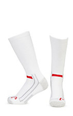 Justin Men's White Full Cushion Cotton Crew with Ordor Control 2Pk Boot Socks