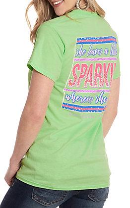 Girlie Girl Originals Mint She Leaves A Little Sparkle Where She Goes Short Sleeve T-Shirt