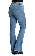 Sneak Peek Women's Light Wash High Rise Flare Jeans