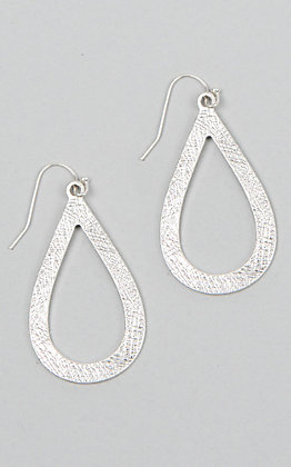 Laminin Spruce Hammered Silver Drop Earrings