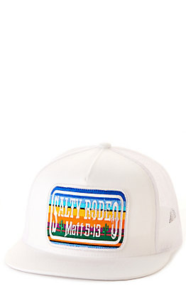 Salty Rodeo Co. White Cactus Jack Tall Crown Snapback Cap