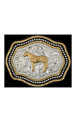 Silver Strike Kids Two Tone Horse Buckle