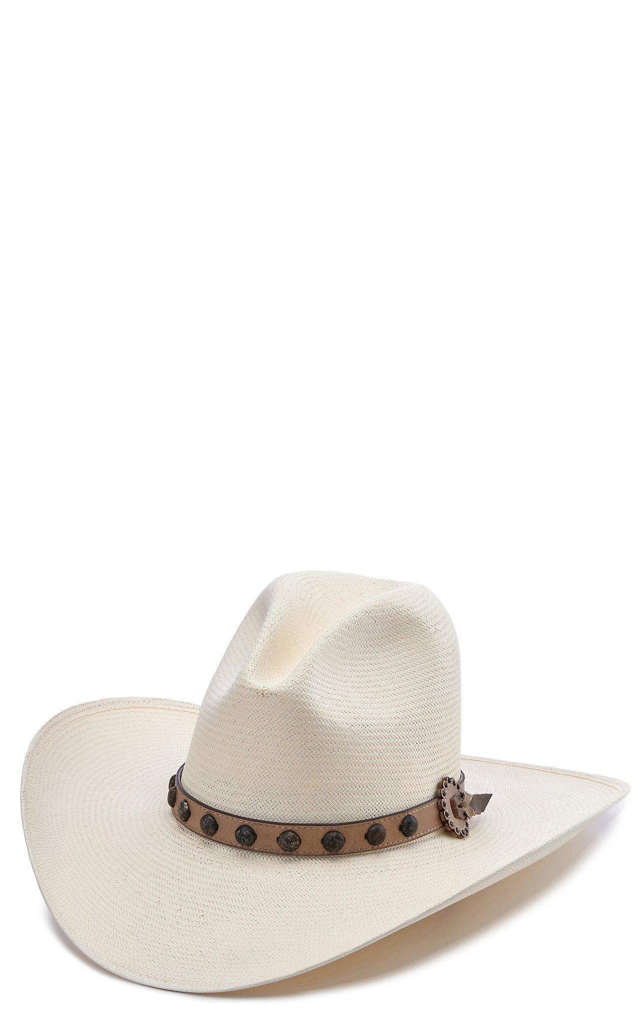 Stetson 10X Broken Bow Gus Natural Straw Cowboy Hat 731401adf0a1