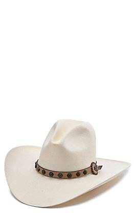 Stetson 10X Broken Bow Gus Natural Straw Cowboy Hat